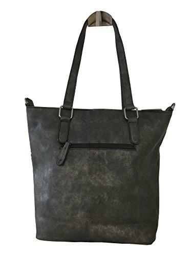 fashion&DU Glitzer STERN Hand Tasche Schultertasche Shopper bag Umhängetasche Tragetasche K Beere