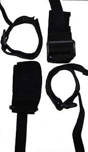 SM DOMINATION - Kit Attache Poignets Chevilles - Velcro Nylon