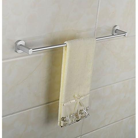 Acciaio inox silver asciugamano da bagno asta asciugamano doppia barra