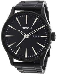 Nixon Herren-Armbanduhr XL Sentry SS Analog Quarz Edelstahl beschichtet A356001-00