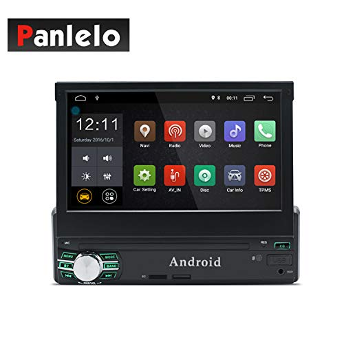 Pannelo T1 Plus Android 8.0 Car Stereo GPS Navigation 2GB RAM 1 DIN Auto Radio (Am / FM / RDS) HD 1024 600 Capacitive Touch Screen Call Handsfree BT Link Mirror