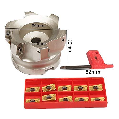 1 STÜCKE BAP 400R-80-27-6F 6 Flöte Wendefläche Fräser + APMT1604PDER Hartmetalleinsatz + T15 Schlüssel