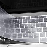 MOSISO AZERTY Protection Clavier Compatible MacBook Pro 13 Pouces A1708 sans Touch Bar 2017/2016/MacBook 12 Pouces A1534 Protège Clavier Ultra Slim EU Disposition, TPU Transparant/Clair
