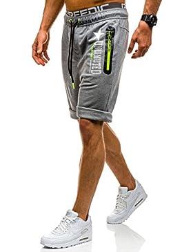 BOLF Hombre Pantalones Deportivos Bermuda Cargo Bolsillos Motivo Casual 7G7