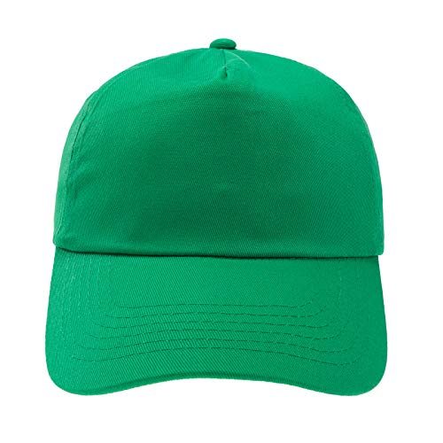 4sold Junior Original 5 Panel Cap Unisex Jungen Mädchen Mütze Baseball Cap Hut Kinder Kappe (Green)