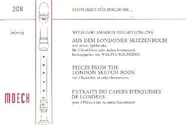 Aus dem Londoner Skizzenbuch: für 3 Blockflöten (SAT)