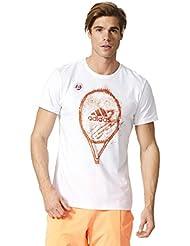 adidas Roland Garros M–White, color multicolor, tamaño large