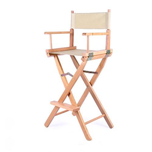 Zurück Bar Stuhl (Portable Klappstuhl für Outdoor Bar Canvas Zurück Hohen Stuhl Regie Stuhl Größe 53,5X40X115,3 cm LI Jing Shop (Farbe : Gelb))