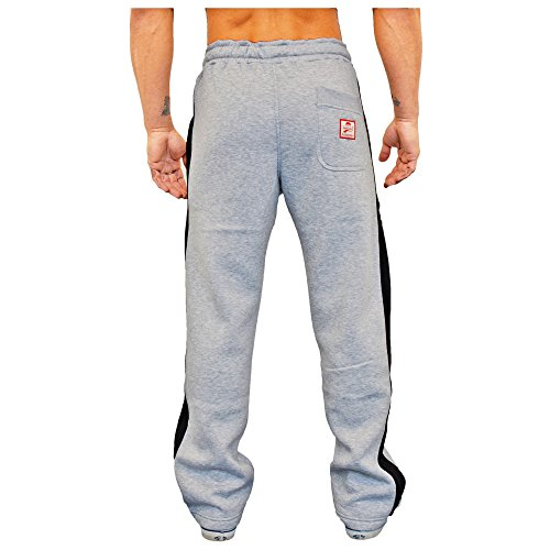 SMILODOX Herren Jogginghose 'Coovveer'   Trainingshose für Sport Fitness Gym Training & Freizeit   Sporthose - Jogger Pants - Sweatpants Hosen - Freizeithose Lang Grau/Schwarz