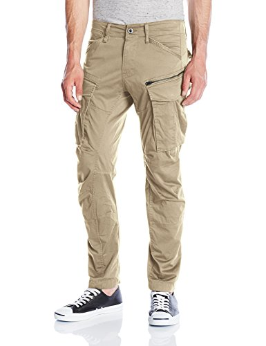 G-Star Herren Hose Rovic Zip 3D Tapered , Beige (Dune), 36/32 (Zip-pocket Hose)