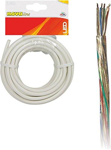 Nova Line cmr005Kabel 2polig für Bänder RGB, transparent, 5m (2-polig Line)