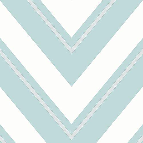 rasch-carta-da-parati-chevron-teal-chiaro-e-bianco-304114