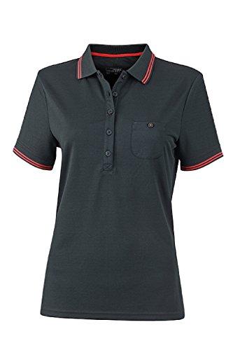 JAMES & NICHOLSON Donna Polo funzionale dalla vestibilita eccellente Black/Red