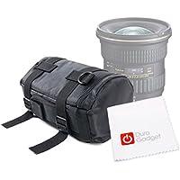 DURAGADGET Funda De Nylon Para Tokina AT-X 11 - 20 mm // 24 - 70 mm F/2.8 PRO DX Lens - ¡Incluye Gamuza Limpiadora! - Totalmente Acolchada - Con Correas De Transporte