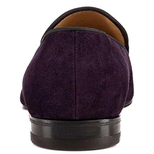 Cuckoo Slip On Tassel Mocassins Habillées Pour Hommes DAffaires Violet