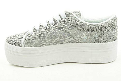 JC PLAY donna sneakers piattaforma ZOMG LACE grigio Grigio