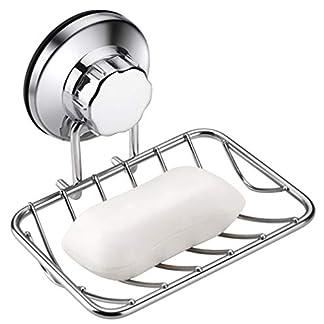 ARCCI Ventosa Jabonera y Portaesponjas Ventosa de vacío súper potente para ducha y baño y cocina