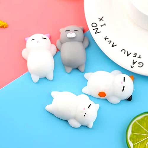 mini kawaii miniaturas kawaii Squishys Kawaii Squishy Cat Gato Animales Descompresión Juguetes Niños Regalo 4 Pcs