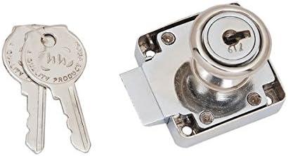 Smart Shophar Zinc Multipurpose Lock Camron Silver With 2 Keys 3 cm