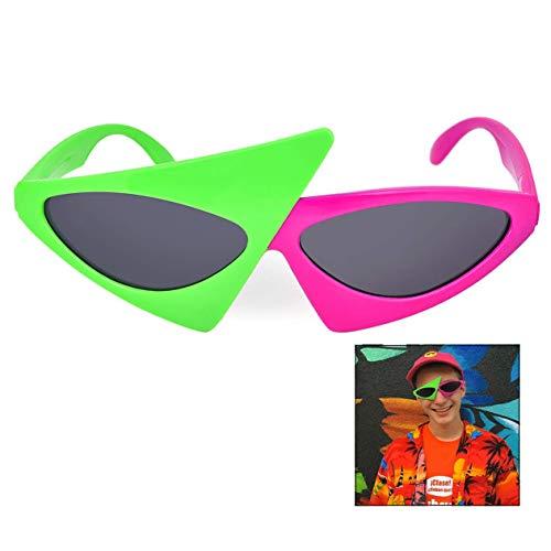LHKJ Lustige Sonnenbrille Partybrille Sapßbrille Funbrille Deko Brille Dance Party Kostüm Zubehör