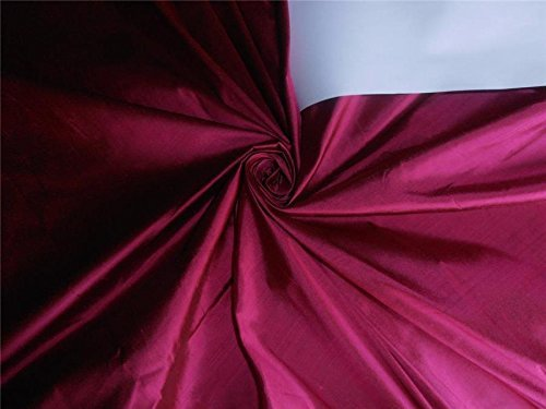100% Pure Seide Dupionseide Stoff magenta pink x schwarz 137,2cm -
