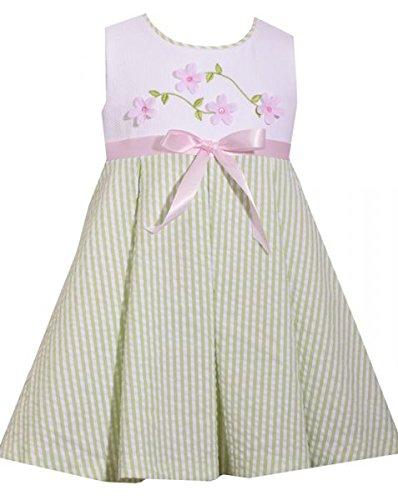 Qualitatives Mädchen Seersucker Sommer-Kleid von Bonnie Baby Gr. 74,80,86,92,98,104 Größe 104