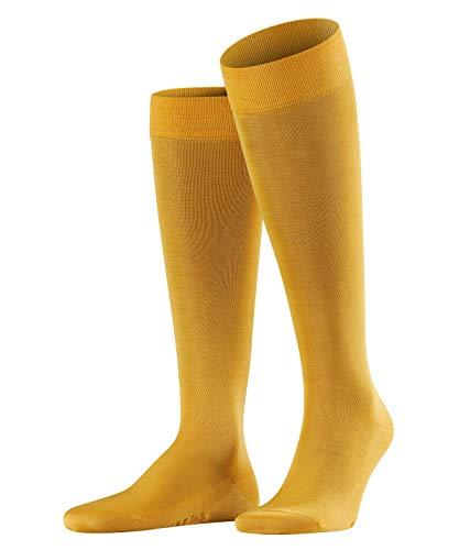 aumwoll Strümpfe Einfarbig Business Kniestrümpfe, Gelb (Mustard 1187), 43/44 ()