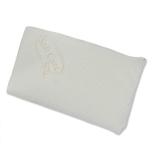 Nackenschmerzen, Migräne, Stress und Schlaflosigkeit! Orthopädisches Sabeatex Mini 50 x 30 x H 6 cm, Nackenstützkissen als zusätzliches Kissen auf Ihr Kopfkissen. Druckausgleichender Visco-Gelschaum. Ideal auch für Flach- und Bauchschläfer.