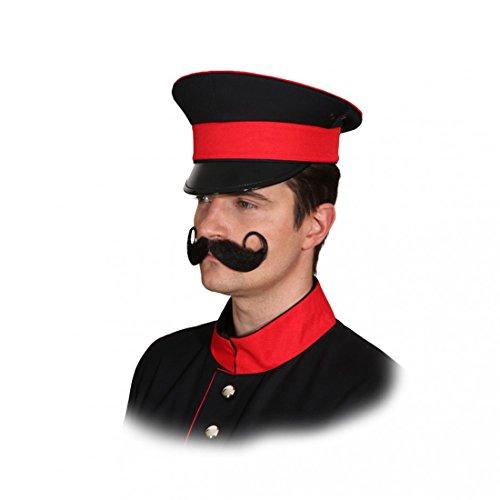 Preussische Uniform Mütze schwarz Karneval Fasching Militär Preuße Hut, Schwarz, KW (Militär Hat Kostüme)