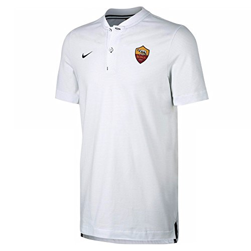 2017-2018 AS Roma Nike Authentic Grand Slam Polo Shirt (White)