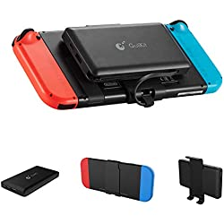 GULIkit Batterie Externe 10000mAh Power Bank avec Support Arrière Détachable pour Nintendo Switch, 2 Ports(USB C & USB) Chargeur Portable pour Smartphone iPhone Samsung iPad Tablette