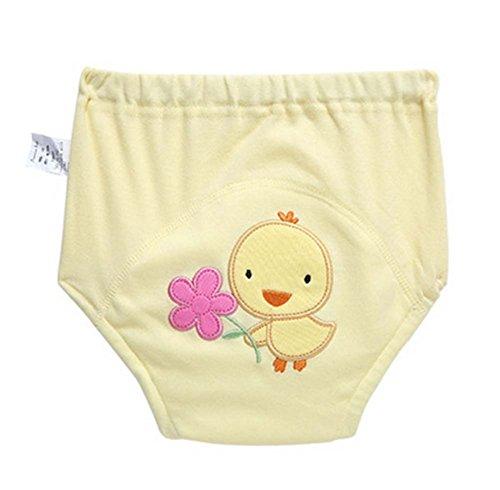 2 PCS Mignon Training Pants Sous-vêtements réutilisables, JAUNE
