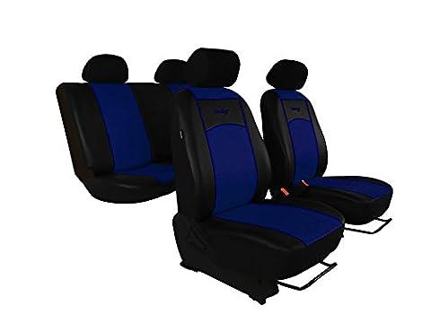Auto Sitzbezüge, Sitzbezug, Schonbezüge ,Super Qualität, DESIGN ECO-LEDER Universal. In diesem Angebot BLAU (In 7 Farben bei anderen Angeboten erhältlich) . Komplett besteht aus: Sitzbezügen + 5 Kopfstützen + Montagehäckchen.