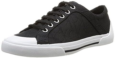 Calvin Klein Giselle Ck Logo 3D, Sneakers Basses femme, Noir (Blk), 39 EU