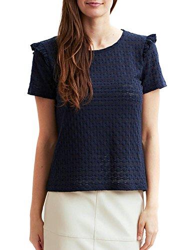 Vila Damen Viwisty S/S T-Shirt Blau