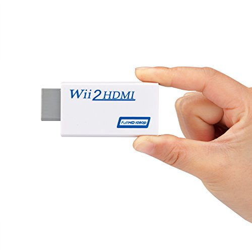 Wii zu HDMI Full HD Konverter / Adapter Stick, Adapterstick Konsolenadapter skaliert Wii Signal auf 720p/ 1080p - Wii an Tv Beamer Monitor anschlie?en for Nintendo Wii,Output 3.5mm Headphone Jack