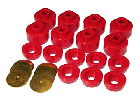 Prothane 7-141 Red Body and Cab Mount Bushing Kit - 16 Piece by Prothane