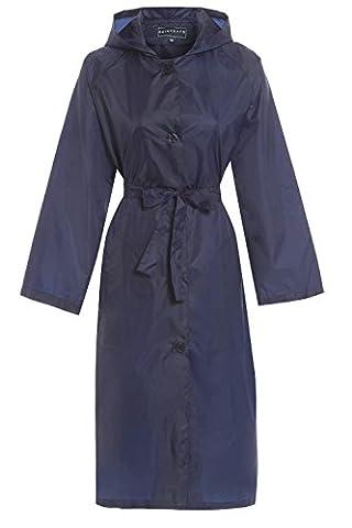 Hari Deals - Manteau imperméable - Trench - Femme - bleu - 52