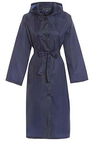 Hari Deals - Manteau imperméable - Trench - Femme Bleu Marine