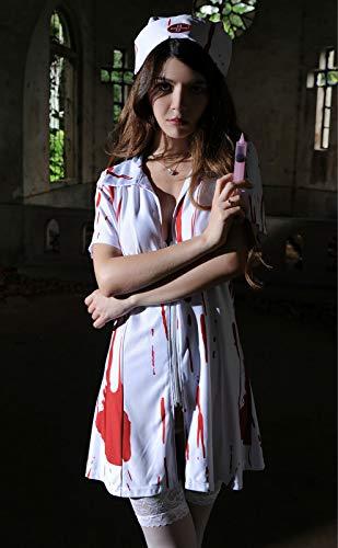 Krankenschwester Kostüm Weibliche - Halloween Horror Bloody Arzt Vampir Weibliche Krankenschwester Kostüm Cos Ghost Festival Ball Spielen, a