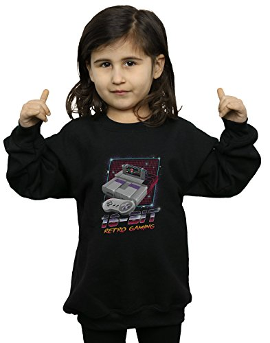 Absolute Cult Vincent Trinidad Mädchen 16 Bit Retro Gaming Sweatshirt Schwarz 9-11 Years - Retro-gaming-pullover
