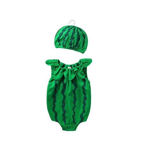 ACVIP Baby Ärmellose Obst Form Dünn mit Hut Erfrischend Baumwolle Sommer Strampler (5-6M, (Obst Hüte)