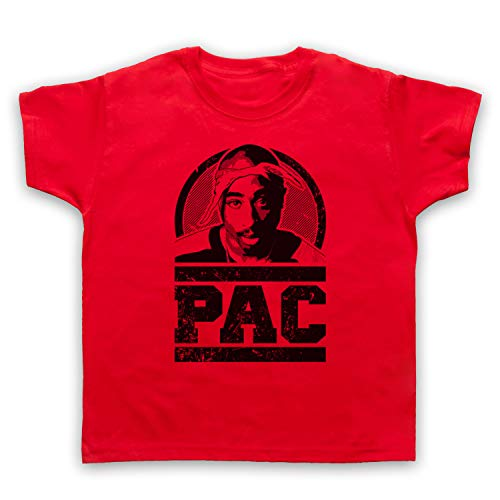 The Guns Of Brixton Tupac 2Pac Pac Tribute Kinder T-Shirt, Rot, 5-6 Jahren