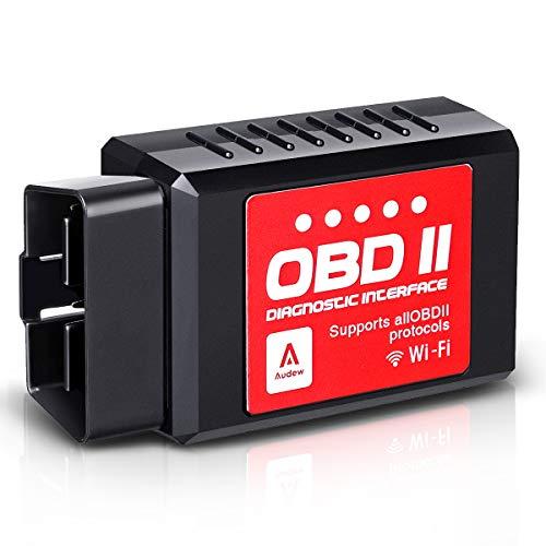 Audew Wireless OBD2 OBDII Auto Code Lettore Scansione Strumento - Collegare Via WiFi - Compatibile con IOS, Android & Windows Dispositivi - Adatto per Maggior parte Auto