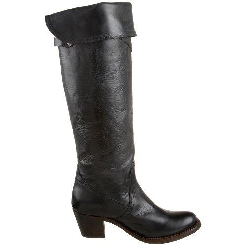 Frye Jane Tall Cuff 77594, Bottes femmes Noir - noir