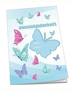 Edition Trötsch 201739 - Cuaderno de Deberes (DIN A5, 96 páginas, con sobre), diseño de Mariposas