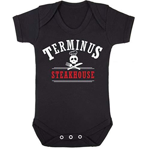 Cloud City 7 Terminus Steakhouse Walking Dead Baby Grow Short Sleeve (Walking Dead Baby Kostüm)