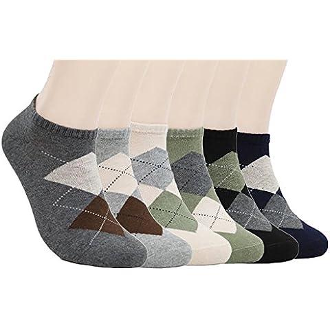 Zando alla caviglia da uomo Argyle cotone calzini Fashion no
