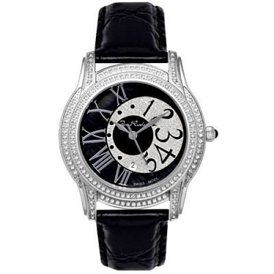 Womens Joe Rodeo Beverly Diamond Watch 1.35Ct Black