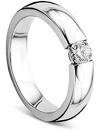 10k Herren Weiß Gold Mehrfarbig Diamantring 1.0 Karat Ringe Uhren & Schmuck